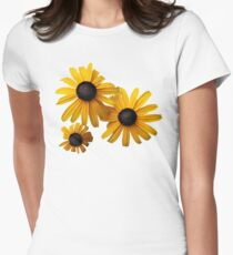 Three Blackeye Susans Women's Fitted T-Shirt