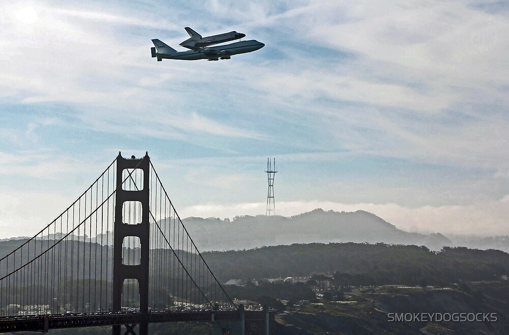 SPACE SHUTTLE TO FLY OVER THE GOLDEN GATE BRIDGE by SMOKEYDOGSOCKS