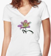 Pink Lily Women's Fitted V-Neck T-Shirt