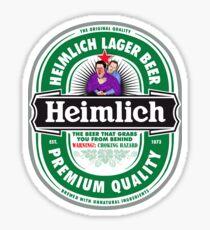 Heimlich Beer Sticker