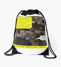 The Paid Assassin Drawstring Bag