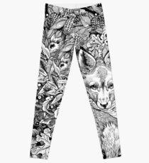 Hiding fox Leggings