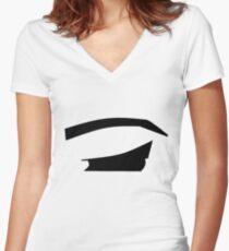 Eyeliner Women's Fitted V-Neck T-Shirt