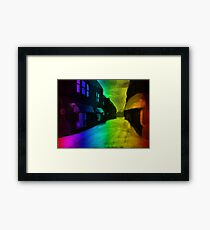 Arcade Evenings Framed Print