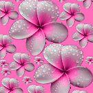 Lovely Tropical Pink Frangipani Skirt by Melissa Park