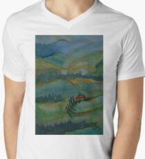 Shades of Tuscany Green Men's V-Neck T-Shirt