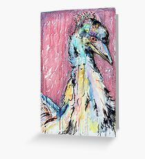 Emu with red Greeting Card
