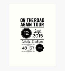 12th September - Gillette Stadium OTRA Art Print