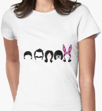 Bobs Burgers Belcher Line Up Women's Fitted T-Shirt