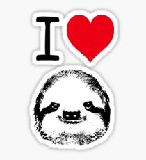I Love Sloths Sticker