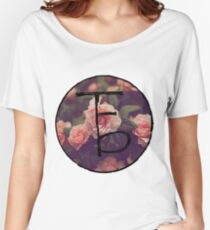 the front bottoms floral logo Women's Relaxed Fit T-Shirt