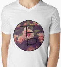 the front bottoms floral logo Men's V-Neck T-Shirt