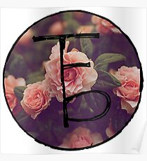the front bottoms floral logo Poster
