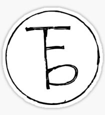 the front bottoms logo Sticker