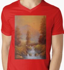 Set For A Fall. Mens V-Neck T-Shirt