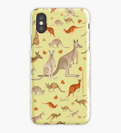 Kangaroo Heart iPhone Case