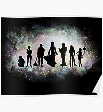 The Endless Silhouettes - Colorful Cosmos Poster