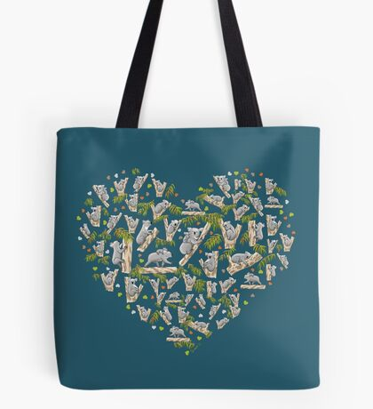 Koala Heart Tote Bag