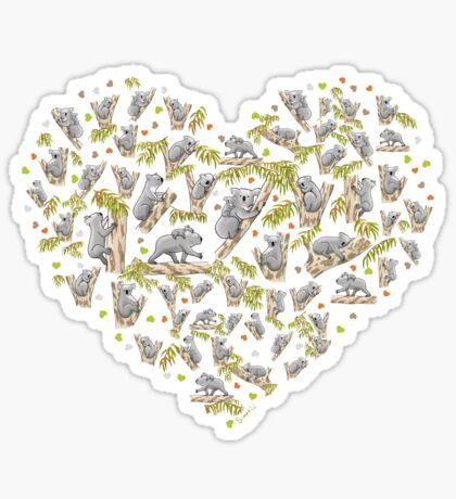 Koala Heart Sticker