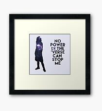 River Tam - No Power in the 'Verse Framed Print