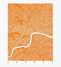 London map orange Photographic Print