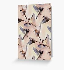 Sparrow Flight Greeting Card