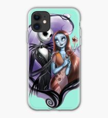 Jack and Sally Kissing 2 iphone case