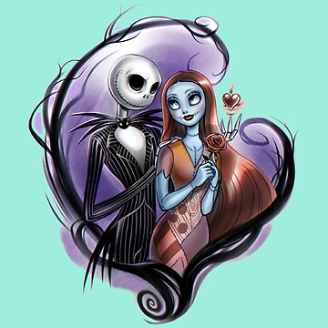 Romantic Jack Skellington and Sally by Titenono