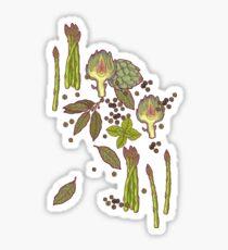 spring asparagus Sticker