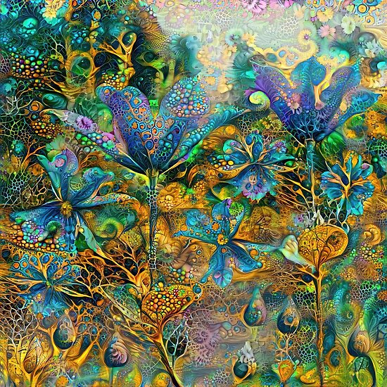 Deepdream floral abstraction