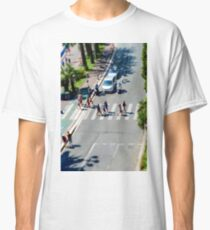 Pedestrian zebra across the street. Tilt shift view. Nice, France Classic T-Shirt