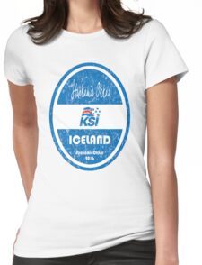 Euro 2016 Football - Iceland Womens Fitted T-Shirt