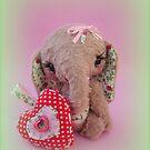 Handmade bears from Teddy Bear Orphans - Esme Elephant by Penny Bonser
