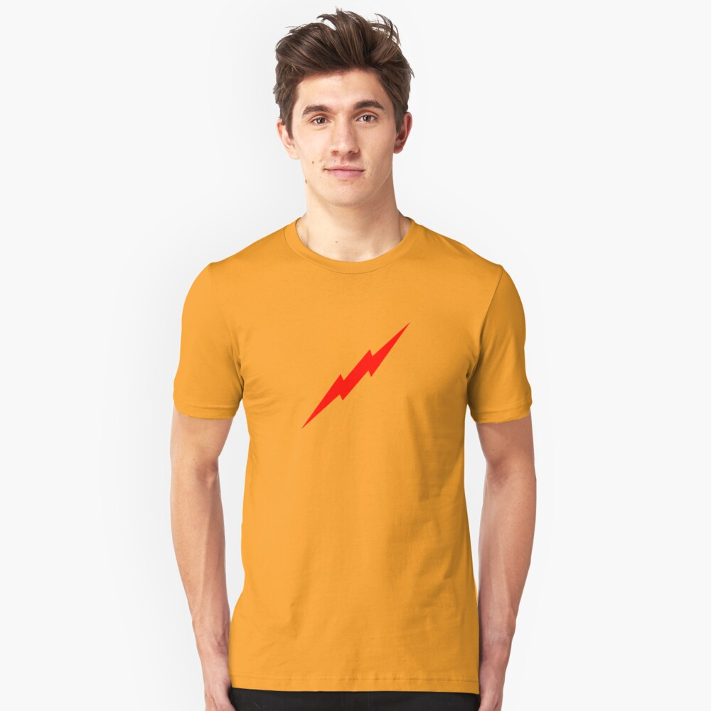 Red Lightning Bolt Unisex T-Shirt Front