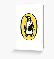 penguin : gentleman Greeting Card