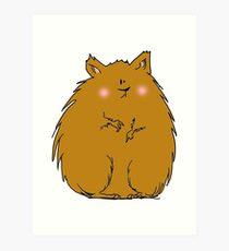 Fat hamster Art Print
