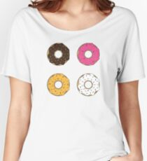 Tasty Donuts Pattern Women's Relaxed Fit T-Shirt