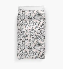 Abstract black and white pink pastel gender neutral pattern squiggle painting hipster  Duvet Cover
