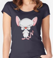 Pinky and The Brain - Brain Women's Fitted Scoop T-Shirt