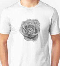 Black And Grey Rose Unisex T-Shirt
