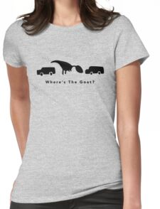 Where's The Goat? (Black) Womens Fitted T-Shirt