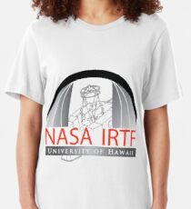 Logo der NASA Infrared Telescope Facility (IRTF) Slim Fit T-Shirt