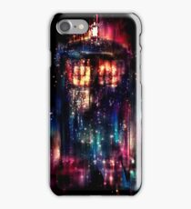 tardis dr who paint  iPhone Case/Skin