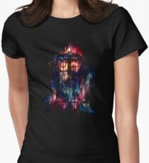 tardis dr who paint  Women's Fitted T-Shirt