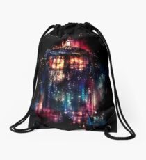 tardis dr who paint  Drawstring Bag