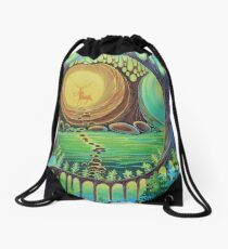 Fantasy creatures. Magic wood illustration.  Drawstring Bag