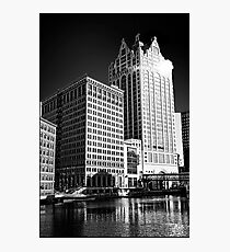 Milwaukee River and Structures Photographic Print