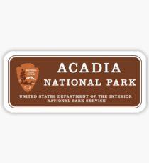 Acadia National Park Sign, Maine, USA Sticker