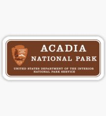 Acadia National Park Sign, Maine, USA Sticker