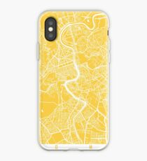 Rome map yellow iPhone Case